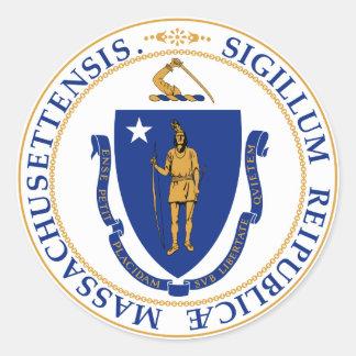 Massachusetts Great Seal Classic Round Sticker