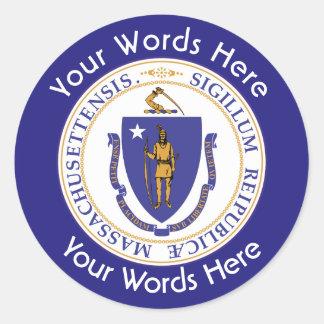 Massachusetts Great Seal Custom Sticker