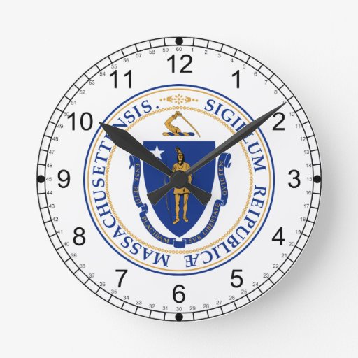 Massachusetts Great Seal Wall Clock
