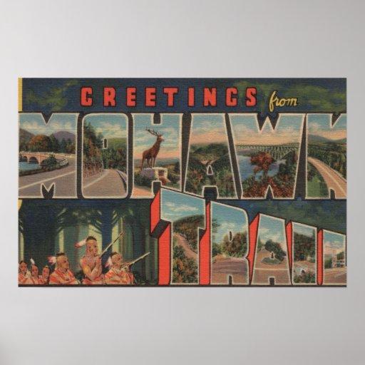 Massachusetts - Greetings from Mohawk Trail Poster