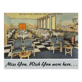 Massachusetts, Haitian Room, Taunton Postcard