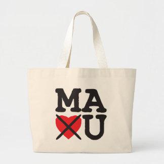 Massachusetts Hates You Large Tote Bag