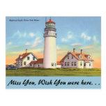Massachusetts, Highland Light, Cape Cod Postcard
