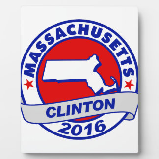 massachusetts Hillary Clinton 2016.png Photo Plaque