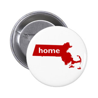Massachusetts Home 2 Inch Round Button