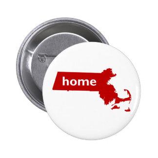 Massachusetts Home Pinback Buttons