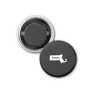 Massachusetts Home 1 Inch Round Magnet