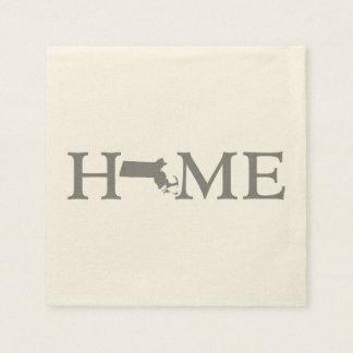 Massachusetts Home State Paper Napkin