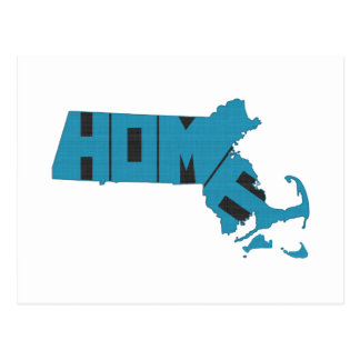 Massachusetts Home State Postcard