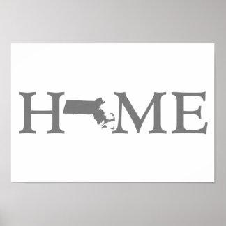 Massachusetts Home State Poster