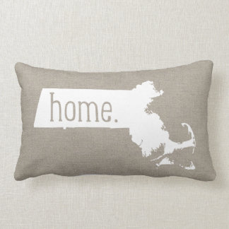 Massachusetts Home State Throw Pillow
