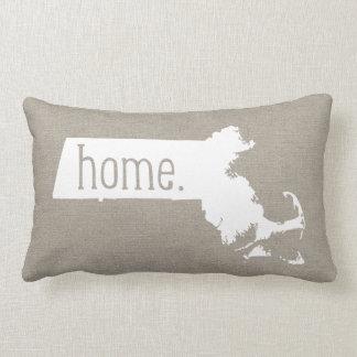 Massachusetts Home State Throw Pillow