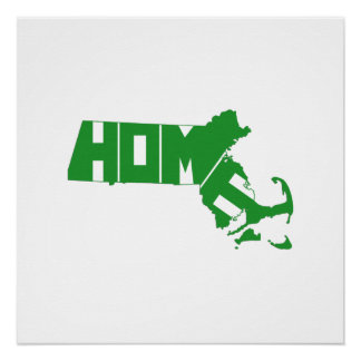 Massachusetts Home State Perfect Poster