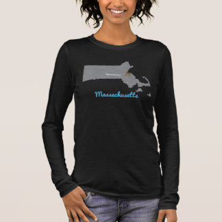 MASSACHUSETTS Home Town Personalized Map 2 Long Sleeve T-Shirt