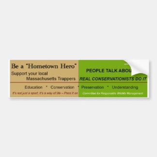 Massachusetts Hometown Hero Bumper Sticker