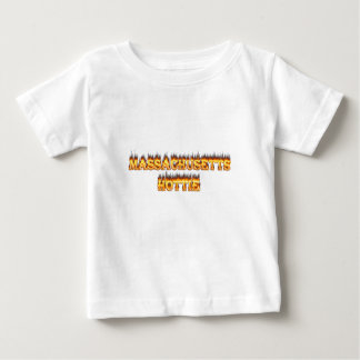 massachusetts hottie fire and flames baby T-Shirt
