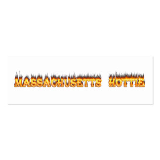 massachusetts hottie fire and flames business card templates