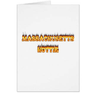 massachusetts hottie fire and flames card