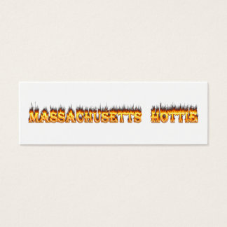 massachusetts hottie fire and flames mini business card