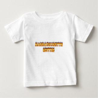 massachusetts hottie fire and flames t-shirt