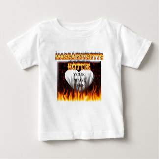 Massachusetts Hottie fire and red marble heart. Baby T-Shirt