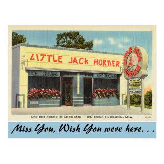 Massachusetts, Ice Cream Shop, Brookline Post Card