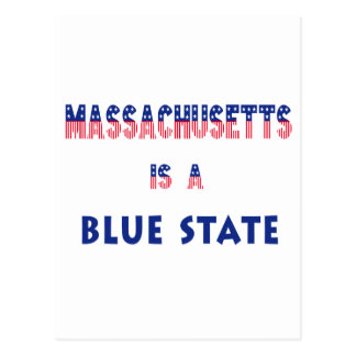 Massachusetts is a Blue State Postcard