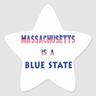 Massachusetts is a Blue State Star Sticker