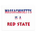 Massachusetts is a Red State Postcard
