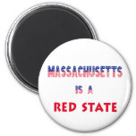 Massachusetts is a Red State Refrigerator Magnets