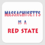 Massachusetts is a Red State Square Stickers
