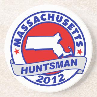 Massachusetts Jon Huntsman Beverage Coaster