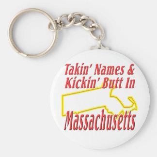 Massachusetts - Kickin' Butt Keychain