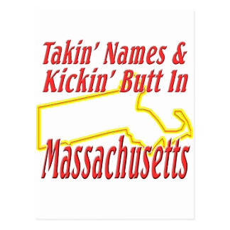 Massachusetts - Kickin' Butt Postcard