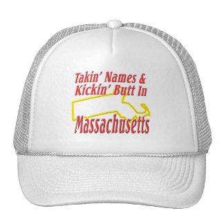 Massachusetts - Kickin' Butt Trucker Hat