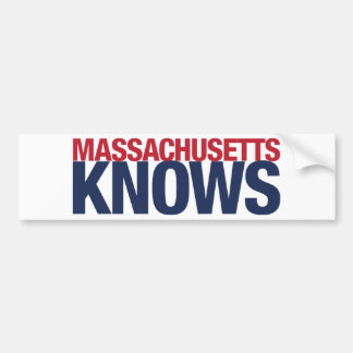 Massachusetts Knows Bumper Sticker