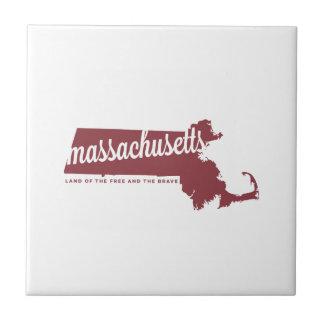 massachusetts | land of the free | apple red tile