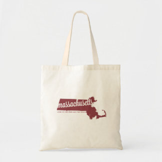 massachusetts | land of the free | apple red tote bag