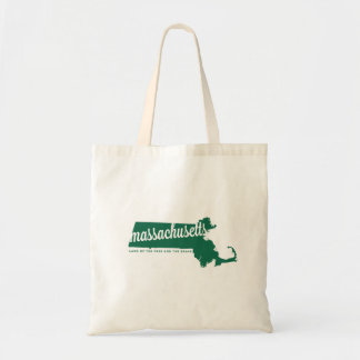 massachusetts | land of the free | green tote bag
