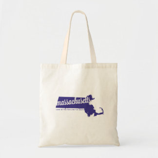 massachusetts | land of the free | violet tote bag
