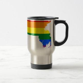 Massachusetts LGBT Flag Map Travel Mug