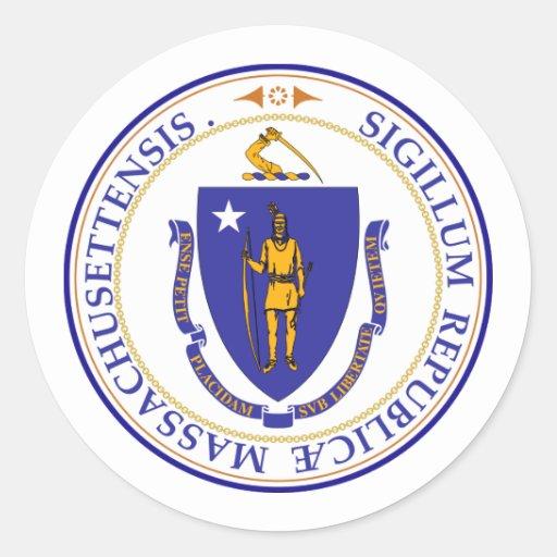 Massachusetts, los E.E.U.U. Pegatina