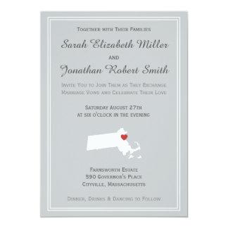 Massachusetts Love - Customizable Wedding Invite