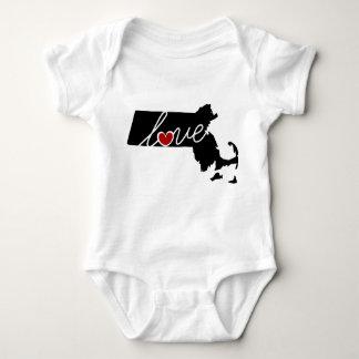 Massachusetts Love!  Gifts for MA Lovers Baby Bodysuit