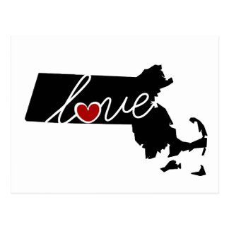 Massachusetts Love!  Gifts for MA Lovers Postcard