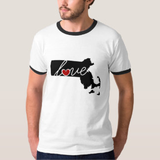 Massachusetts Love!  Gifts for MA Lovers T-Shirt