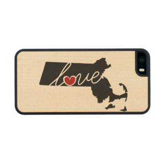 Massachusetts Love!  Gifts for MA Lovers Wood Phone Case For iPhone SE/5/5s