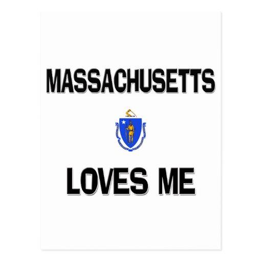 Massachusetts Loves Me Postcard