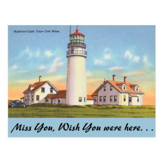 Massachusetts, luz de la montaña, Cape Cod Postal