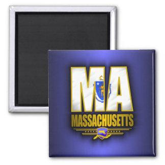 Massachusetts (MA) 2 Inch Square Magnet